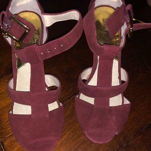 Michael Kors Burgundy suede heels